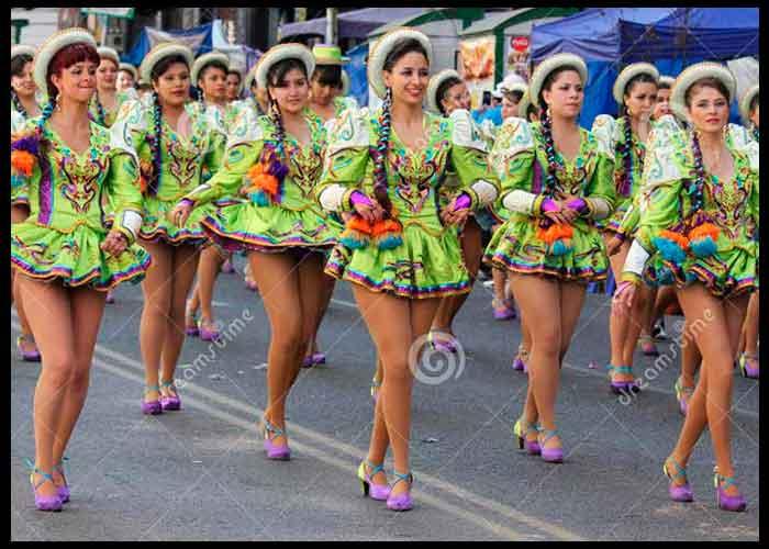 caporales tradicional traje de mujer