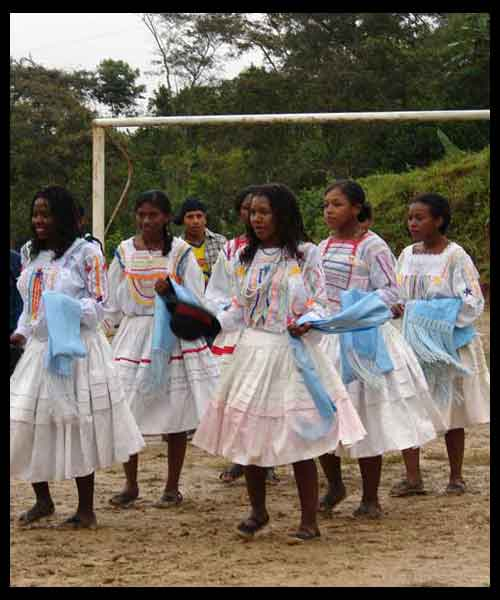 saya afroboliviana vetimenta mujer